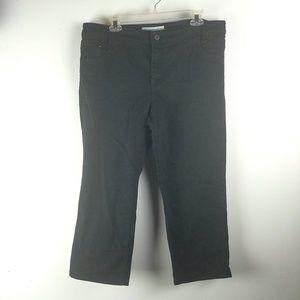 Chicos Platinum Denim Black Jeans 2.5 Large 14